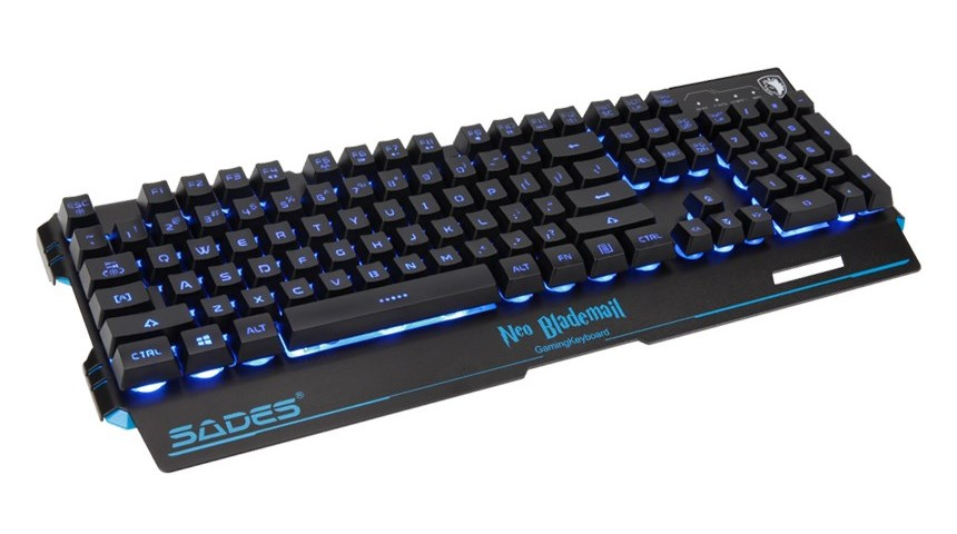 SADES Gaming Keyboard Neo Blademail, RGB Backlit, Membrane | SA-KB104S