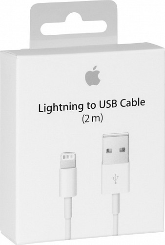 APPLE MD819ZM/A USB to Lightning Cable White 2m (Retail Box)