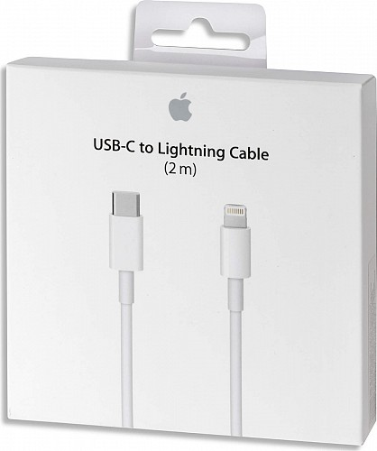 APPLE MKQ42ZM/A Lightning to USB-C Cable White 2m (Retail Box)